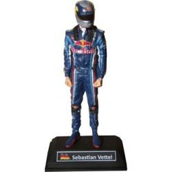 Figurine Sebastian VETTEL / RED BULL RACING 2010 , échelle 1/12ème