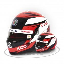 Mini casque échelle 1/2 Kimi Räikkönen 2020