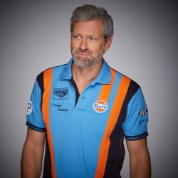 Gulf Racing Team Polo cobalt