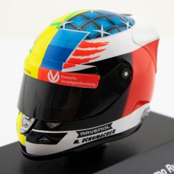 Mick Schumacher helmet Demo Spa 2017 scale 1/8th