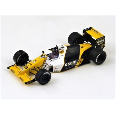 Minardi M189 P. Barilla, 6ème au GP du Japon 1989
