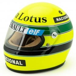 1985 Ayrton Senna mini helmet scale 1/2